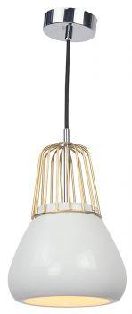 Luminite Pendant Light Brass Metal White Porcelain 18X145CM