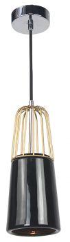 Luminite Pendant Light Brass Metal Black Porcelain 11X145CM