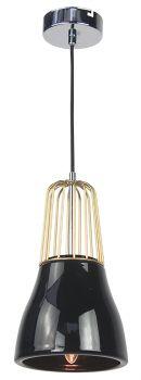 Luminite Pendant Light Brass Metal White Porcelain 14X145CM