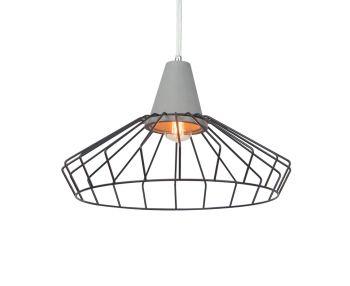 Luminite Black Cage Pendant Light