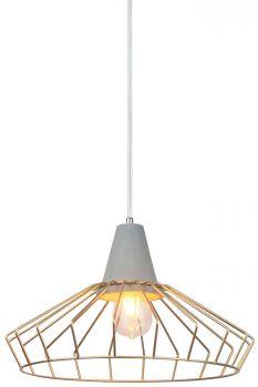 Luminite Copper Cage Pendant Light