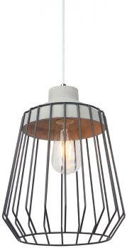 Luminite Black Cage Pendant Lamp