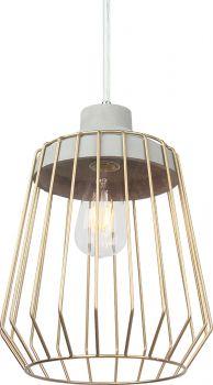Luminite Copper Cage Pendant Lamp