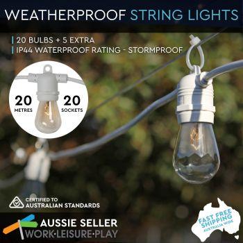 Luminite Outdoor Marquee Lights White 20M