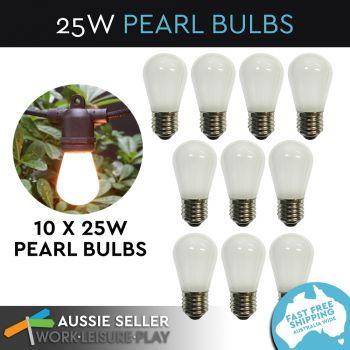 10x 25W Replacement Pearl Bulbs G45