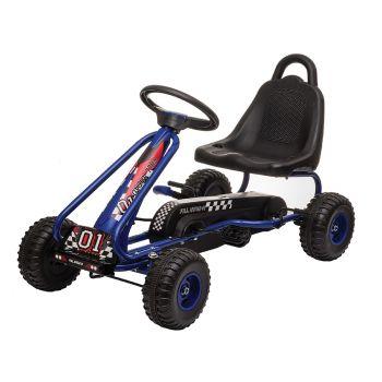 Pedal Go Kart Kids The Mini 83X27X52CM Blue Ride On Car Toys Racing Bike