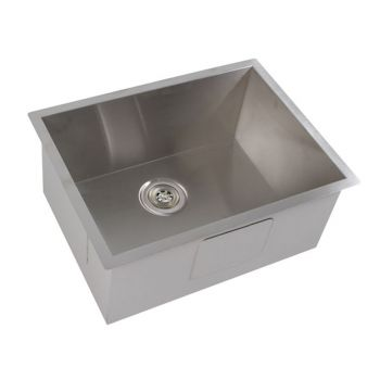 DURO Kitchen Sink Undermount Topmount 600x450MM 304 Stainless Steel Single Bowl
