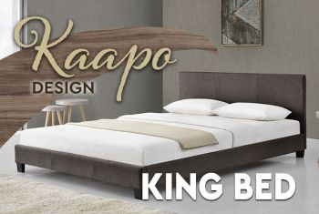 King Bed Frame | Fabric | Kaapo Brown