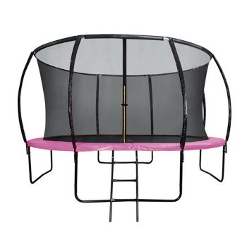 12FT Round Trampoline Pink