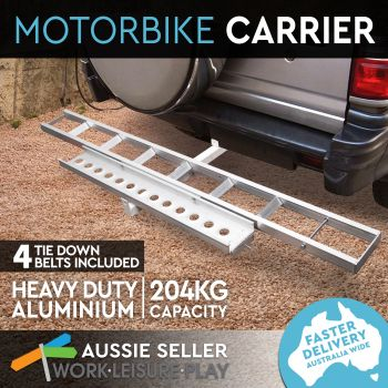 2 Arms Motorcycle Carrier Rack and Ramp