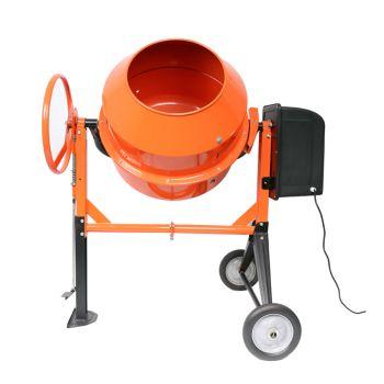 140L Portable Cement Mixer Electric Concrete Mortar Sand Gravel Construction