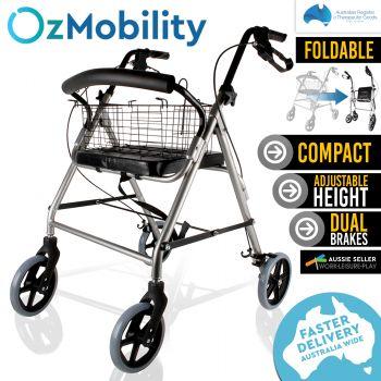 4 Wheels Foldable Rollator