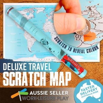 Deluxe World Scratch Map Poster