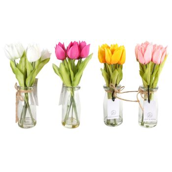 Hej Tulips In Glass Milk Pot