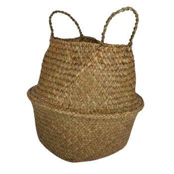 Byron Sea Grass Belly Baskets Foldable Set of 2