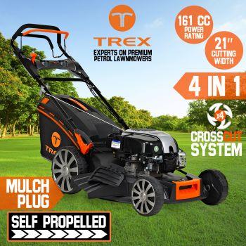 21'' Lawn Mower Self Propelled Bs750ex 161cc 4 Stroke TREX