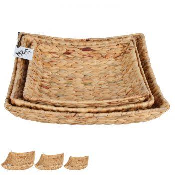 Hyace Square Hyacinth Wire Basket Set of 3