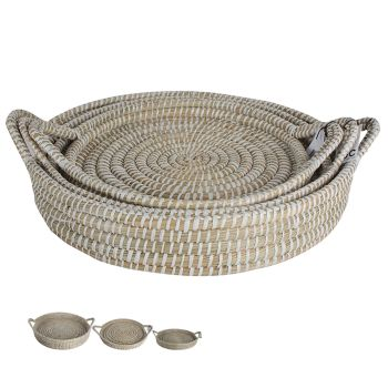 Elliot Kans Grass Food Trays w/ Handles Set of 3