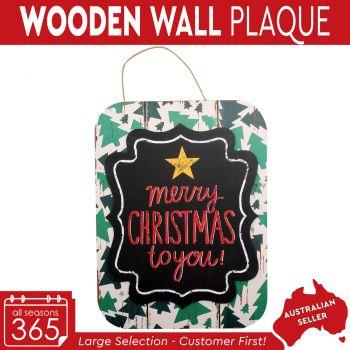 Wooden Christmas Hanging Plaque