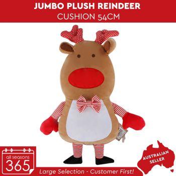 Jumbo Plush Reindeer Cushion
