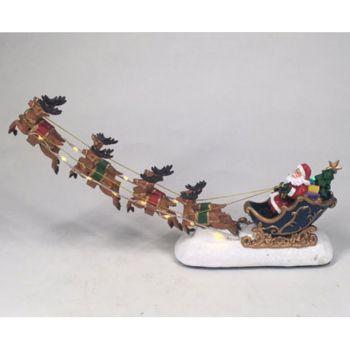 Flying Sleigh LED Christmas Ornament 31.5x16x6.5cm