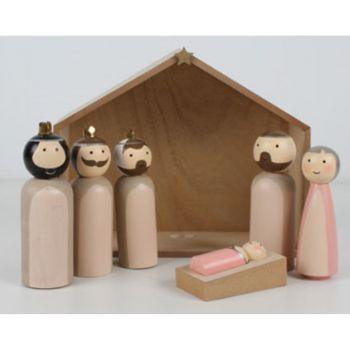 6PCE Nativity Scene Ornament 21x24x8.5cm