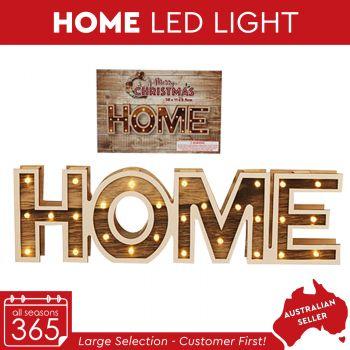 Home Sign Wooden Led Light