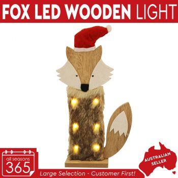 LED Light Wooden Fox