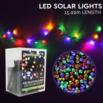 Solar LED Lights 200   Multi-Colour   8cm x 15.9m