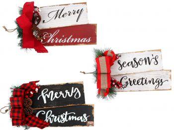 Deluxe Christmas Wooden Plaque Door