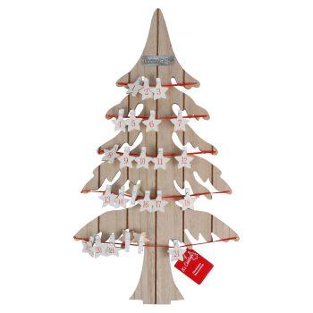 Christmas Wood Advent Calendar Tree