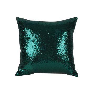 Sequin Christmas Cushion Green