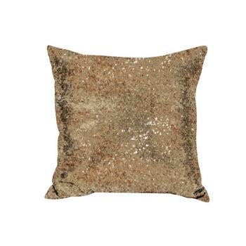 Sequin Christmas Cushion Gold