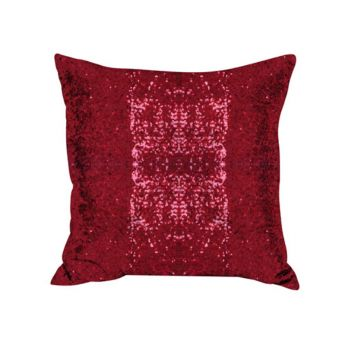 Sequin Christmas Cushion Red