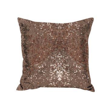 Sequin Christmas Cushion Brown