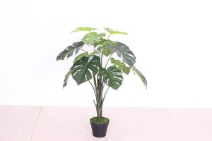 Artificial Monstera Plant  in Plastic Pot 70cm