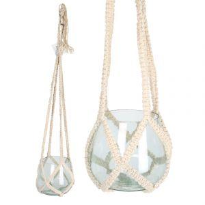 Plant Pot Hanger w/ Glass vase