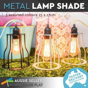 Luminite Pendant Cage Metal Lamp Silver 15X17CM